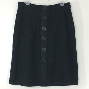 ❤️Worthington fully lined black lace casual skirt